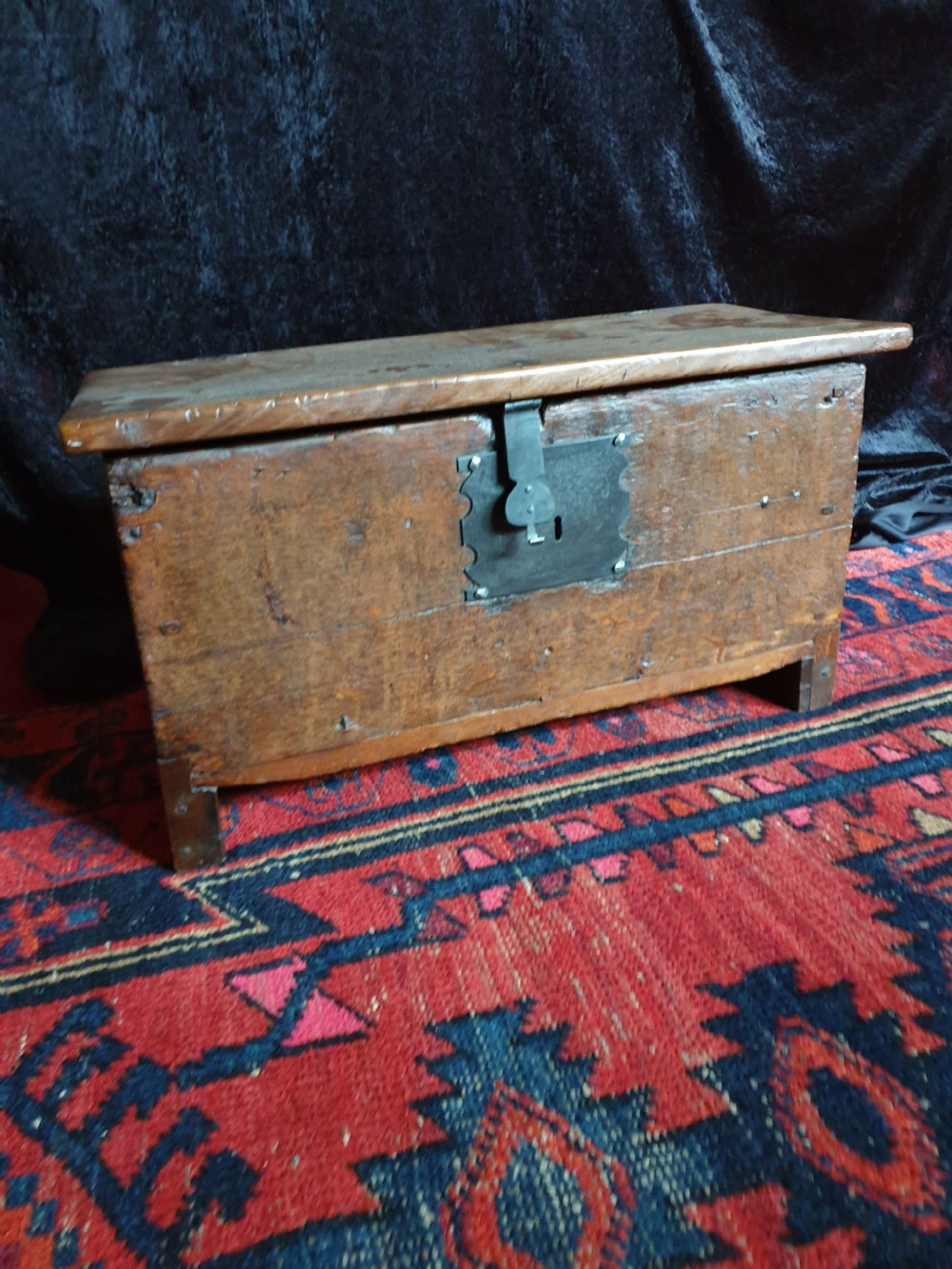 17thc small oak coffer c1680 59cmsl