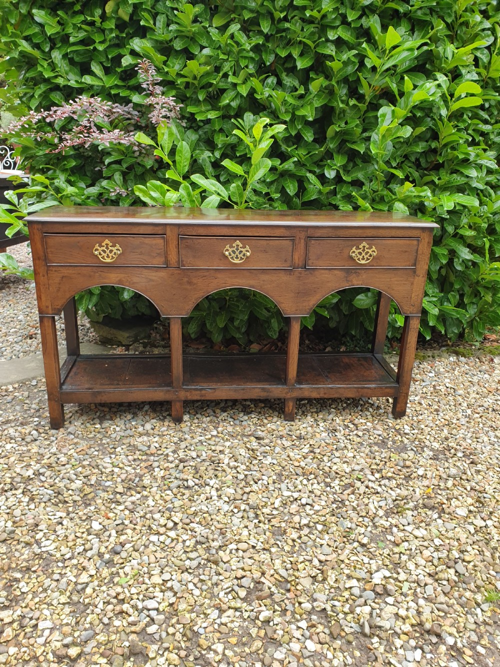 a tiny early 19thc oak south wales potboard dresser base