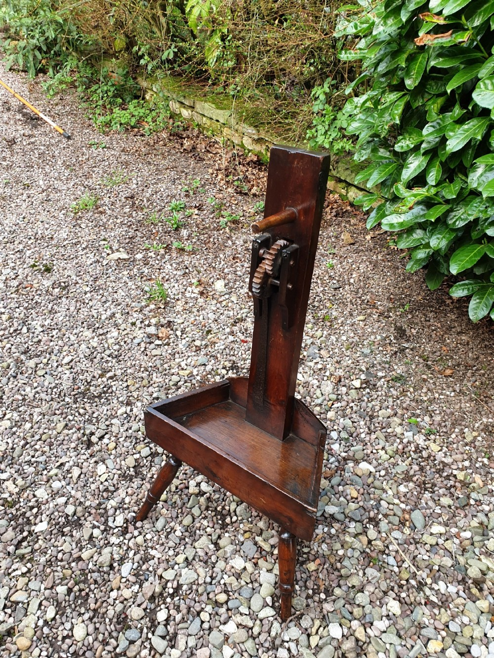 a rare 18th century primitive fruitwood country made wool winder